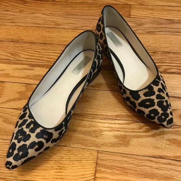 Cole Haan Calf Hair Leopard Flats